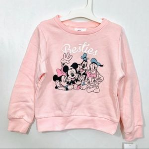 Disney Blush Pink Minnie Besties Fleece Pullover